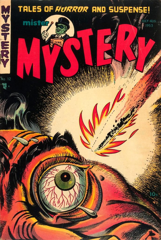 Mister Mystery #12 Bernard Baily Cover (Aragon, Magazines, Inc. 1953)