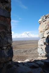 Mt Ararat from Khor Virap, Armenia (4) (jrozwado) Tags: mountain church wall asia monastery armenia ararat armenianapostolic khorvirap  orientalorthodox gregorytheilluminator      grigorlusavorich