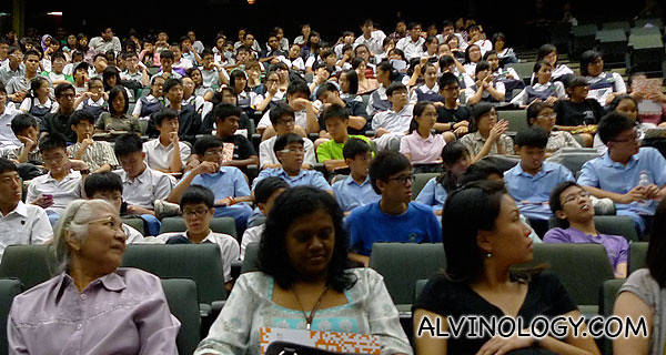 SP students and students from various secondary and tertiary institutions in the audience