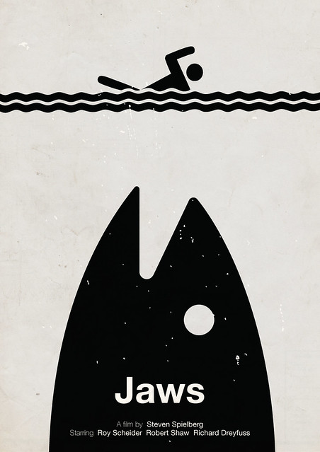'Jaws' pictogram movie poster