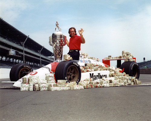 Emerson Fittipaldi the day after the 1989 Indy 500