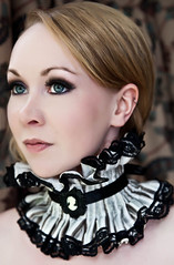 Steampunk Collar (Lovechild Boudoir) Tags: vintage neck glamour gothic victorian feather skirt lolita carnivale corset cameo collar burlesque cirque bustle ruff choker dandy steampunk fishtail governess epaulettes