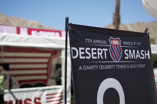 Celebrities and tennis pros take the court for a good cause for KSwiss Desert Smash