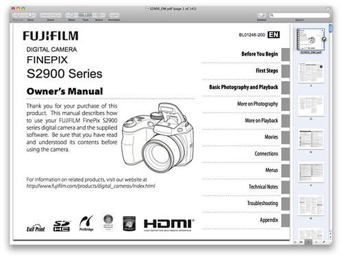 Fuji S2950 Manual