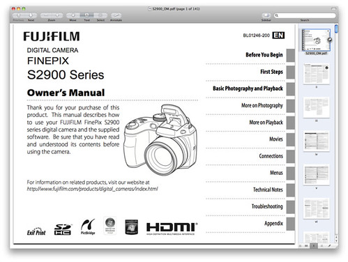 Fuji S2950 Manual -- PDF