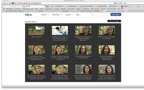 ILRI Film Page on the web