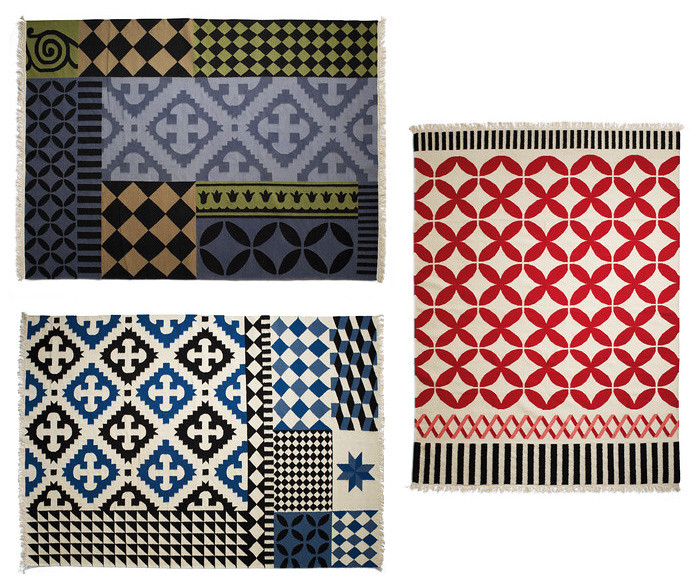 Kelim rugs by Sandra Figuerola from magazin.com