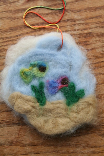 Lucas's Needle-Felted Picture: Fish