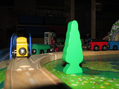 Tiny Trains (kymlatt) Tags: structure childhoodtoys project52 week1052 mcpproject52 kmlattimore kymmusesblogspotcom