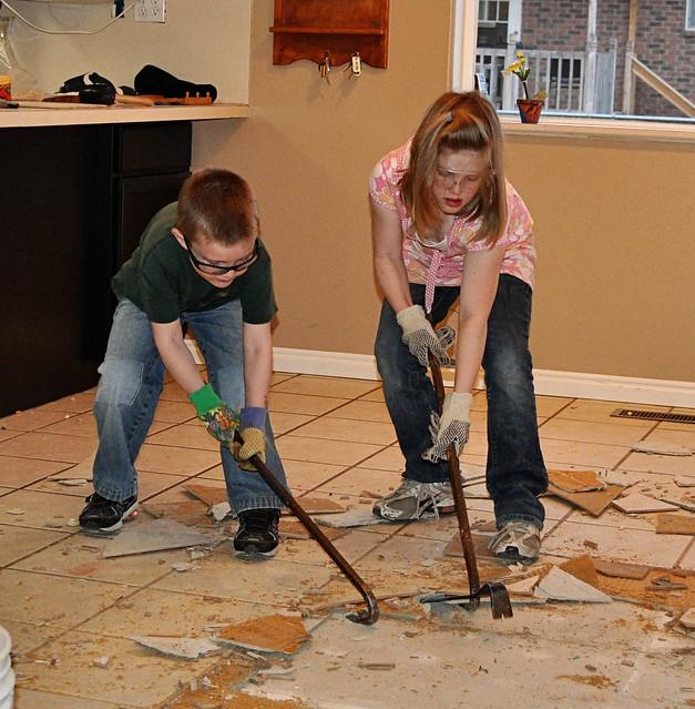 Princess and TS take out tile