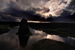 An apostle faces the sun (blinkingidiot) Tags: stone circle site yorkshire twelveapostles moor prehistoric ilkley twelve apostles neolithic megalith ilkleymoor
