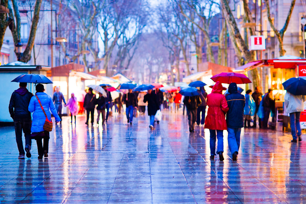 La Rambla In The Rain - 4