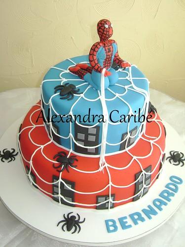Fotos de Bolo de Aniversário Tema Homem Aranha
