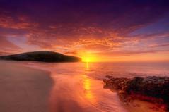 Lanzarote Sunrise II (Wolfgang Staudt) Tags: travel sun beach clouds sunrise spain earlymorning lanzarote canaryislands playablanca morgenstimmung travelphotographie playasdepapagayo lanzaroteisland