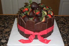 "Chocolate, chocolate and more chocolate w/strawberries birthday cake • <a style=""font-size:0.8em;"" href=""http://www.flickr.com/photos/60584691@N02/5524770259/"" target=""_blank"">View on Flickr</a>"