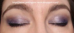 Look Blue Smokey Inglot Ojos cerrados blog