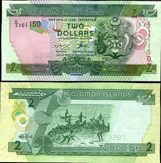 2 Doláre Šalamúnové ostrovy 2006, P25