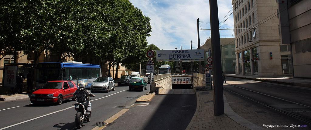 Parking Europa, pour stationner sa voiture à Antigone