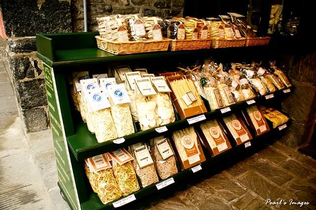 隨處可見的義大利麵條販售