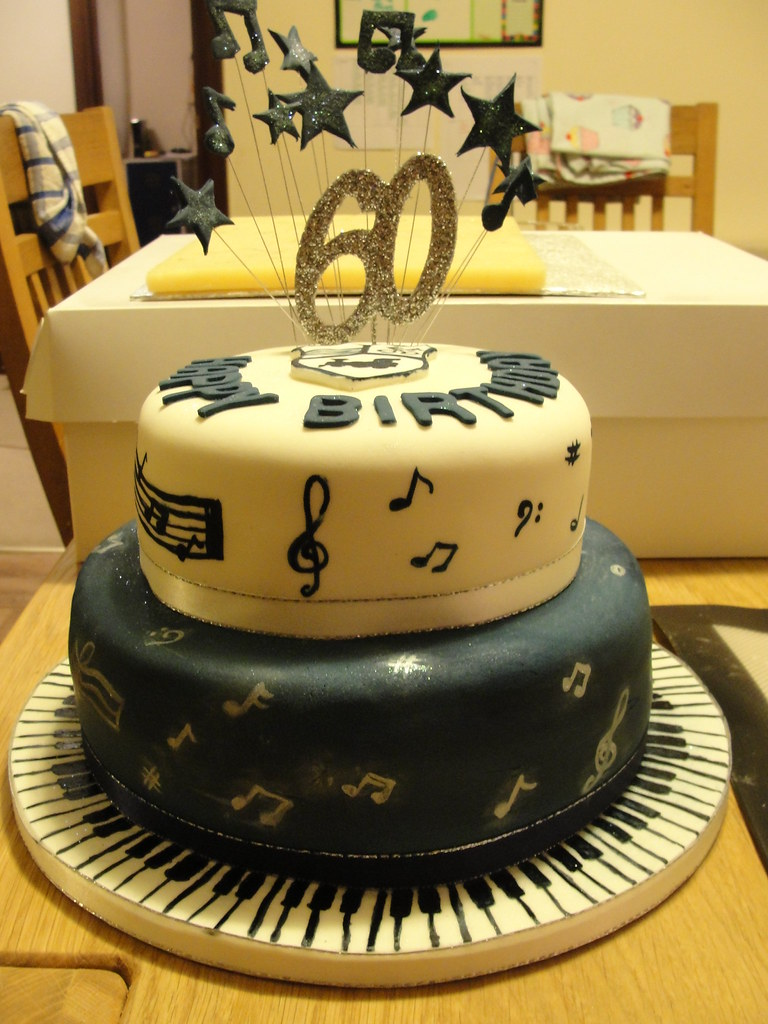 60th Birthday Cake Music Theme Anges Cakes Peterborough Tags