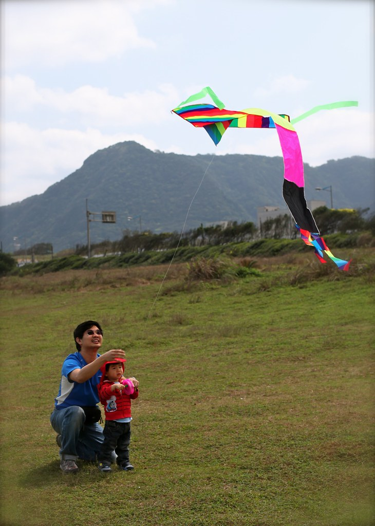 Kite flying with papa