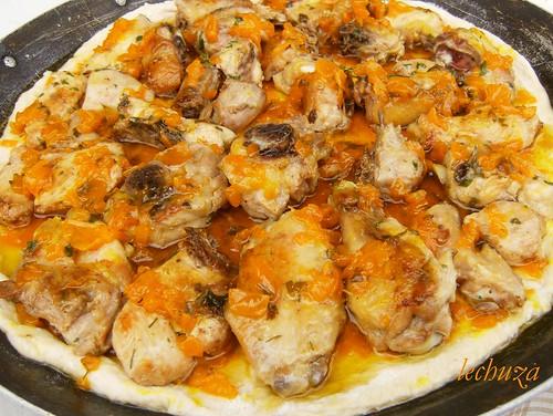 Empanada de pollo-añadimos-más cebolla