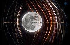 my moon: only 356,575 km away from you (marianna armata) Tags: light moon distortion canada motion blur lines collage night photoshop lights glow quebec montreal text curves warp full panasonic streaks marianna armata supermoon lumixg1 sliderssunday mariannaarmata