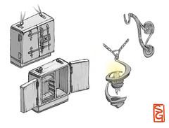 Lantern, Hook; Book box