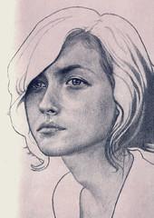 3.24.11 (ryanjmichael) Tags: portrait girl face illustration sketch drawing