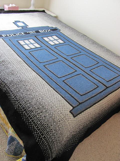 Tardis Blanket Knitting Pattern : Springer Knitting Club Free pattern - TARDIS Blanket