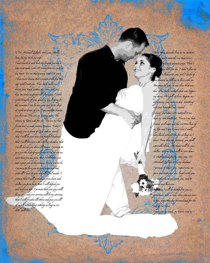 Custom Wedding Photo & Text Art