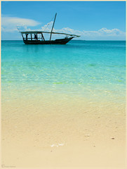 Dreams of Zanzibar.. (Joost N.) Tags: africa blue holiday beach water beautiful beauty clouds relax tanzania island boat sand nikon sailing african side north explore tropical sail afrika zanzibar nikkor resorts bounty joost chill unguja explored d700 notten