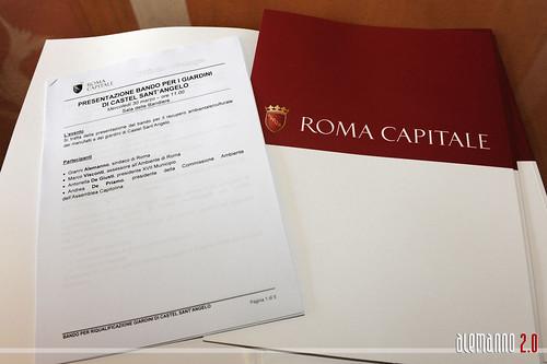Roma - Castel Sant'Angelo - Presentazione del bando di recupero dei giardini