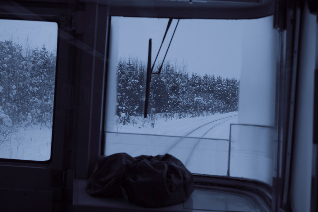 "the front train window of Limited Express ""Sarobetsu"" #6"