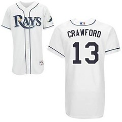 Tampa Bay Rays #13 Carl Crawford White Home Jersey (Terasa2008) Tags: jersey tampabayrays  cheapjerseyswholesale cheapmlbjerseys mlbjerseysfromchina mlbjerseysforsale cheaptampabayraysjerseys