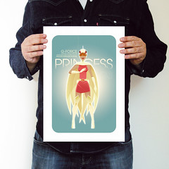 Princess A3 Print (Neal McCullough) Tags: princess gforce battleoftheplanets gatchaman vectorillustration gicleprints