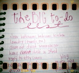 the big to-do list