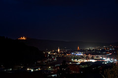 Nagold at Night (Michad90) Tags: city castle church night germany lights nikon view viadukt d90 nagold hohennagold