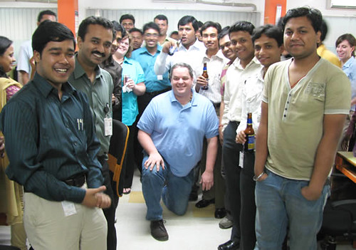 Client at Infoway India office