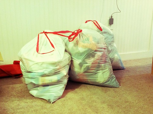 Bags of stuff after Spring cleaning