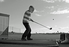 baby tiger ? (damianmkv) Tags: summer blackandwhite sport golf topgolf fujifilmxf1