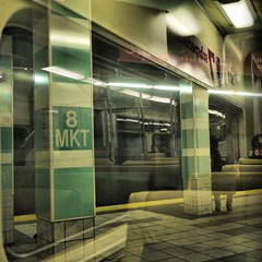Eighth and Market - PATCO Station (Bill Abrams) Tags: reflection philadelphia train reflections square 11 patco fourthirds g2k 8thandmarket eigthandmarketstation lindenwaldline