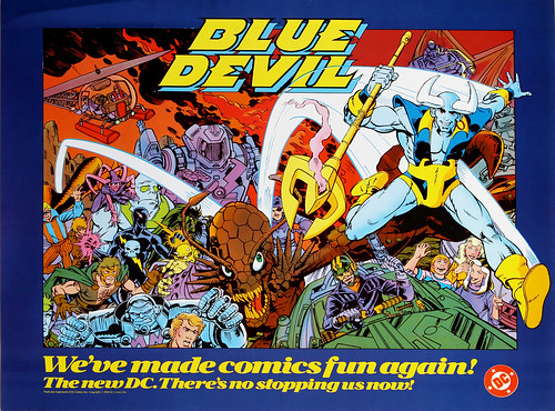 DC Comics promotional poster - Blue Devil - 1984