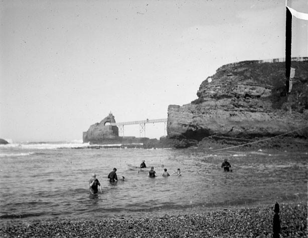 Pont Vieux et rocher de la Vierge, Biarritz, octobre 1891