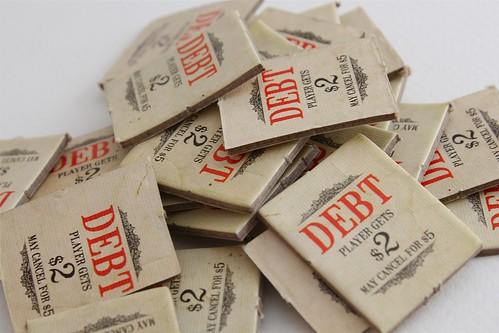 Pile of debt