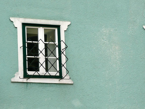 one window pastel green