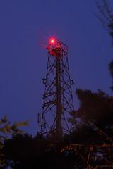 Day 103 (29) - Crooksbury Hill radio mast (quornflake) Tags: longexposure red night radio surrey bluehour mast 365 antenna dailyshoot