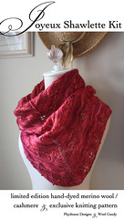 Joyeux in cyclamen (phydeaux designs) Tags: red rose magenta kit shawl blush cyclamen joyeux phydeaux shawlette phydeauxdesigns woolcandy knittingknitknitted
