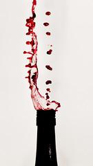 Playing with Wine (Henrik Thorn) Tags: slash red 50mm bottle nikon wine flash vin redwine liquid d90 rdvin