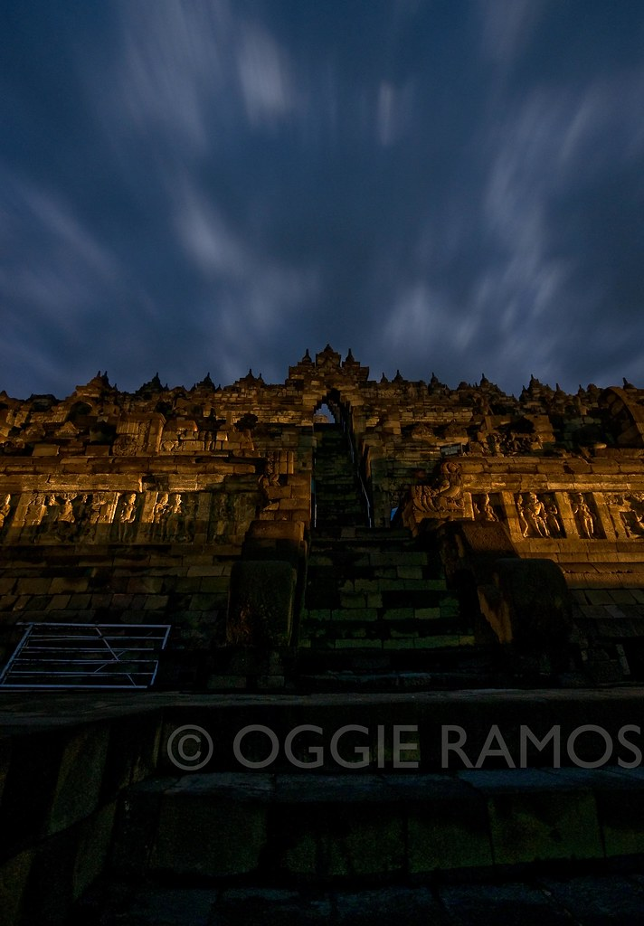 Indonesia - Borobudur with Dramatic Nightsky